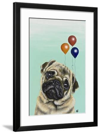 Party Dog IV-Victoria Coleman-Framed Art Print