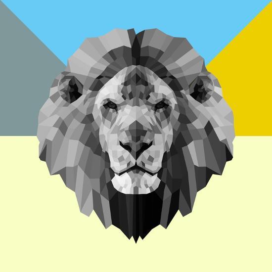 Party Lion-Lisa Kroll-Premium Giclee Print