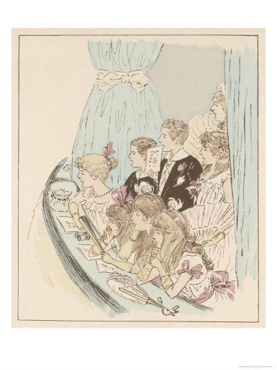 Party of Children Enjoy the Panto at Drury Lane Theatre London- MARS (Maurice Bonvoisin)-Giclee Print
