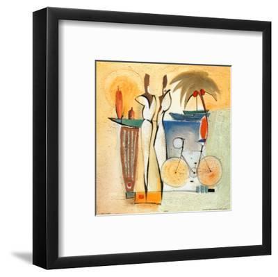 Party of Deux IV-Alfred Gockel-Framed Art Print