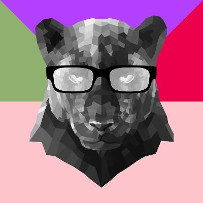 Party Panther in Glasses-Lisa Kroll-Art Print