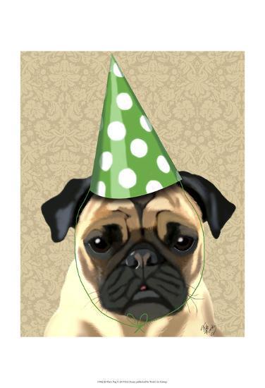 Party Pug-Fab Funky-Art Print