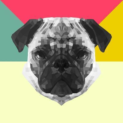 Party Pug-Lisa Kroll-Art Print