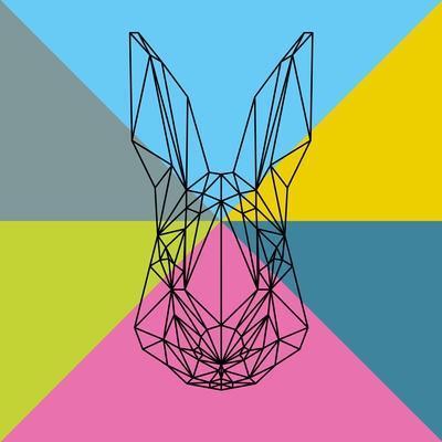 Party Rabbit-Lisa Kroll-Art Print