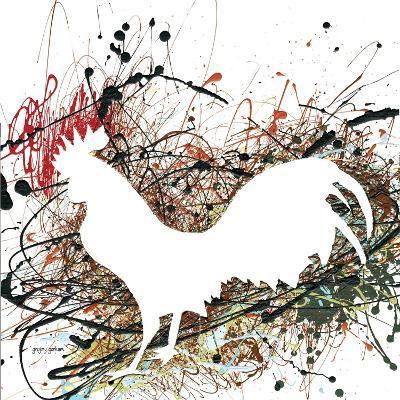 Party Rooster II-Gregory Gorham-Art Print