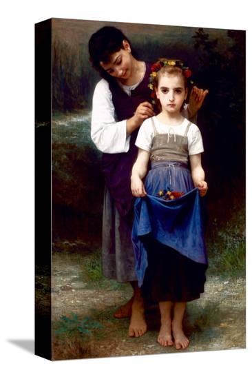 Parure des Champs-William Adolphe Bouguereau-Stretched Canvas Print