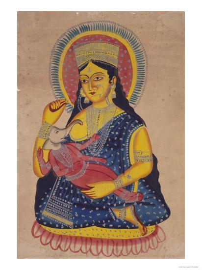 Parvati Nursing Ganesha, India--Giclee Print