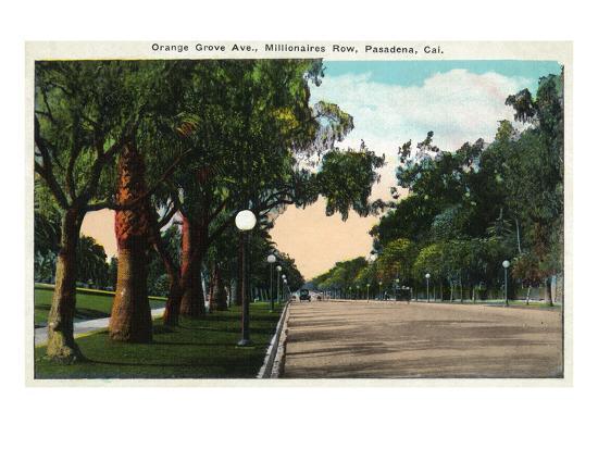 Pasadena, California - Millionaire Row, Orange Grove Avenue-Lantern Press-Art Print