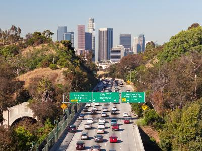 Pasadena Freeway (Ca Highway 110) Leading to Downtown Los Angeles, California, United States of Ame-Gavin Hellier-Photographic Print