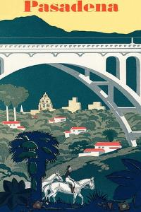 Pasadena Travel Poster