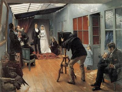 Wedding at the Photographer'S, 1878-1879