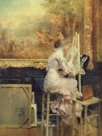 Young Watercolourist in the Louvre, c.1891
