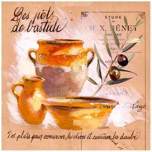 Pots bastide olive by Pascal Cessou