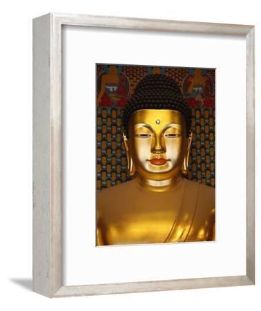 Detail of Sakyamuni Buddha Statue in Main Hall of Jogyesa Temple