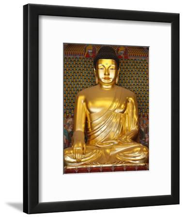 Statue of Sakyamuni Buddha in Main Hall of Jogyesa Temple