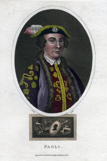Pascal Paoli, 18th Century Corsican General and Patriot-Thomas Dale-Giclee Print