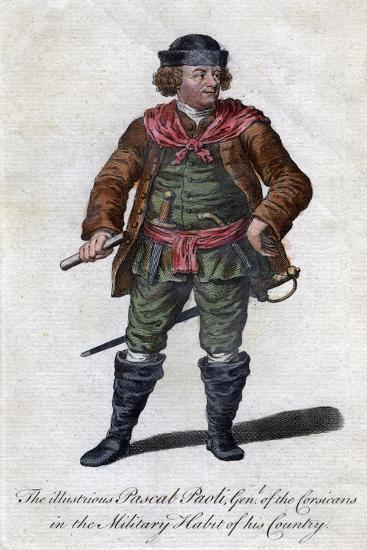 Pascal Paoli, 18th Century Corsican General and Patriot--Giclee Print
