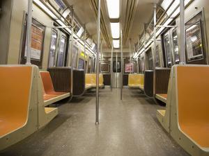 Inside a Subway Train, NYC by Pascal Preti