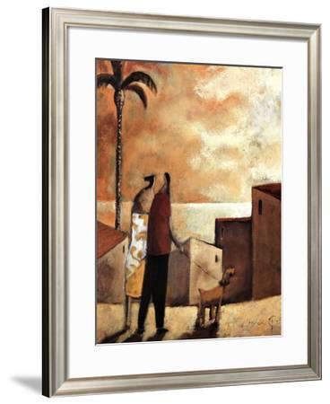 Paseo con Perro-Didier Lourenco-Framed Art Print