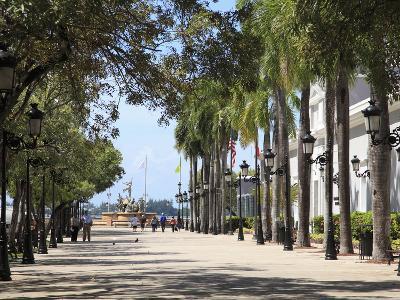 Paseo de La Princesa (Walkway of Princess), Old San Juan, San Juan, Puerto Rico, West Indies, USA-Wendy Connett-Photographic Print
