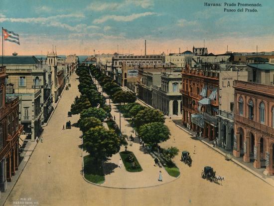 Paseo del Prado, Havana, Cuba, c1920-Unknown-Photographic Print