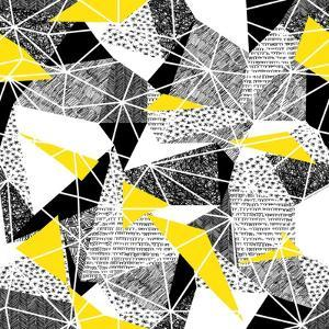 Geometric Seamless Pattern in Retro Style. Vintage Background.Triangles and Hand Drawn Patterns. Lo by pashabo