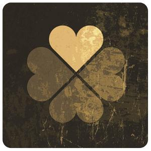 Grunge Lucky Clover Leaf by pashabo