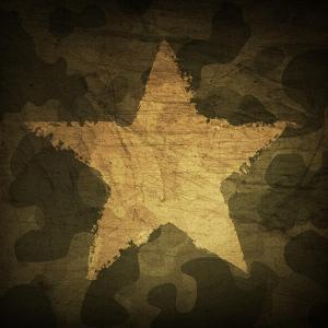 Military Camouflage Background With Grunge Star by pashabo