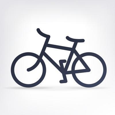 Minimalistic Bicycle Icon