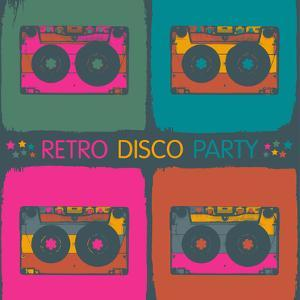 Retro Disco Party Invitation in Pop-Art Style. Raster Version, Vector File Available in Portfolio. by pashabo