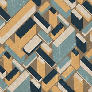 Retro Geometric City by pashabo