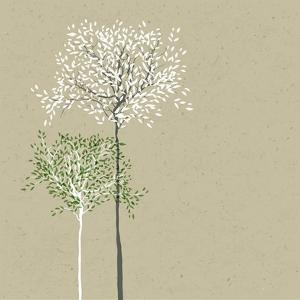 Trees Background. the Trunk and Leaves in Separate Layers. Vector. by pashabo