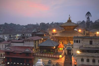 Pashupatinath Temple at Dusk, UNESCO World Heritage Site, Kathmandu, Nepal, Asia-Ian Trower-Photographic Print