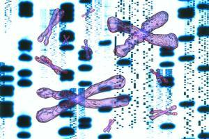 Artwork of DNA Sequences And Chromosomes by PASIEKA