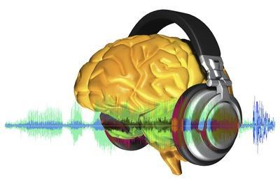 Brain with Headphones, Artwork