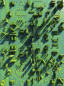 Circuit City, Computer Artwork by PASIEKA