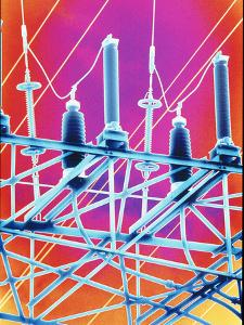 Computer Artwork of High-voltage Power Lines by PASIEKA