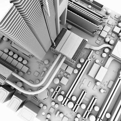Computer Motherboard, Artwork