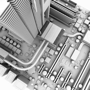 Computer Motherboard, Artwork by PASIEKA