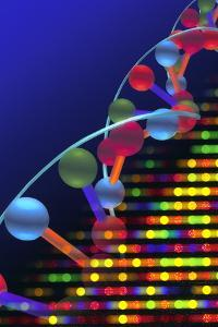 DNA Microarray And Double Helix by PASIEKA