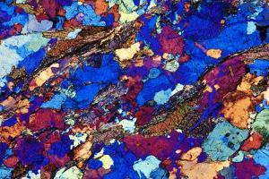 Gneiss, Thin Section, Polarised LM by PASIEKA