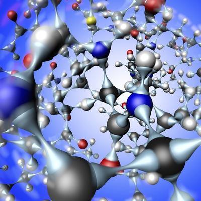 Insulin Molecule, Close-up View