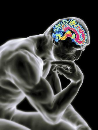 Man Thinking, Artwork