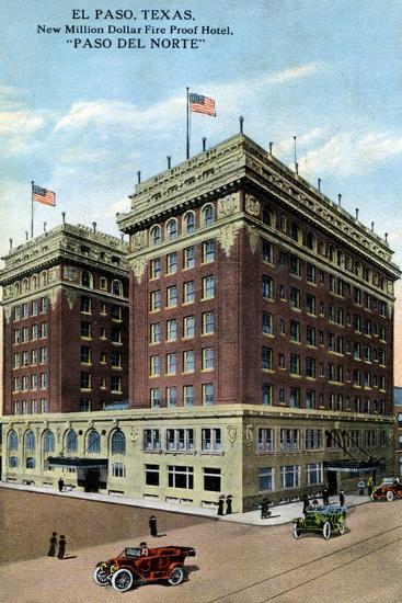 Paso Del Norte Hotel, El Paso, Texas, USA, C1916--Giclee Print