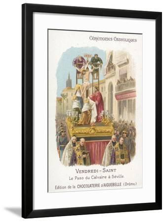 Paso of Calvary, Good Friday, Seville--Framed Giclee Print