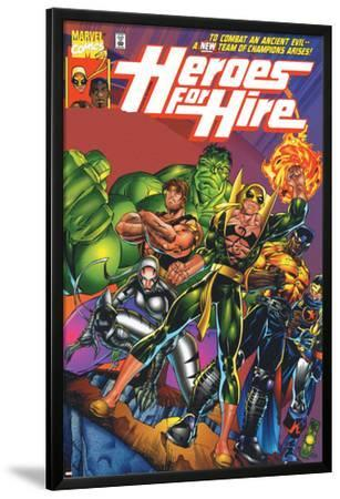 Heroes For Hire No.1 Cover: Cage, Luke, Iron Fist, Hulk and Black Knight
