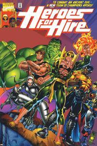 Heroes For Hire No.1 Cover: Cage, Luke, Iron Fist, Hulk and Black Knight by Pasqual Ferry