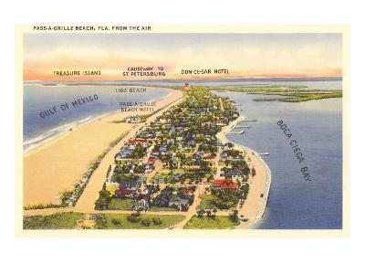 Pass-a-Grille Beach, Florida--Art Print