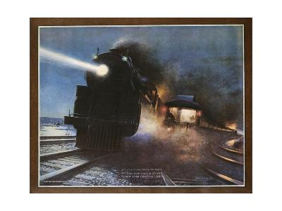 Pass in the Night, the Twentieth Century Limited of the New York Central Lines Poster-W.H. Foster-Giclee Print