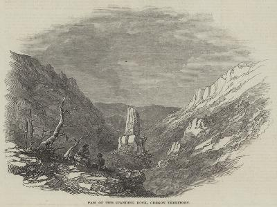 Pass of the Standing Rock, Oregon Territory--Giclee Print